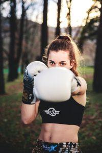 La luchadora de Muay Thai Marta Cámara