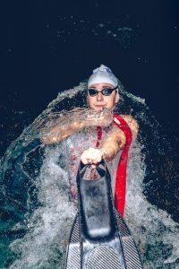 La nadadora de socorrismo Natalia Martinez