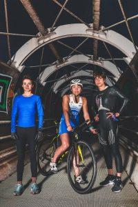 Las triatletas Irene, Jone y Gurutze