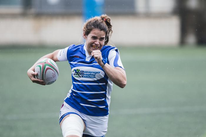 Uri Barrutieta en un partido de rugby