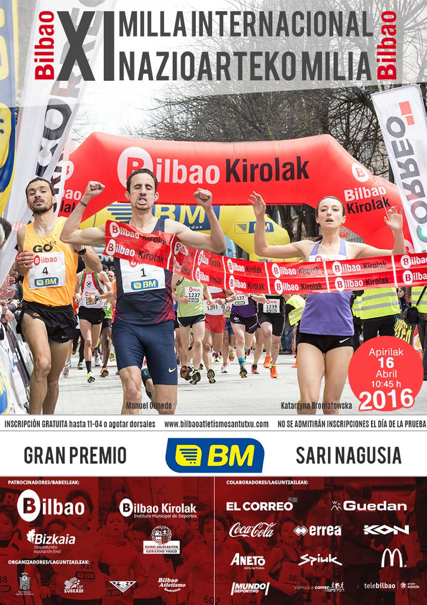 Cartel Milla Int. de Bilbao 2016