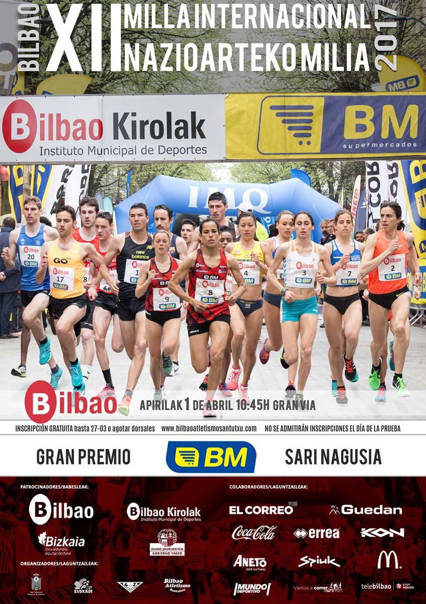 Cartel Milla Int. de Bilbao 2017