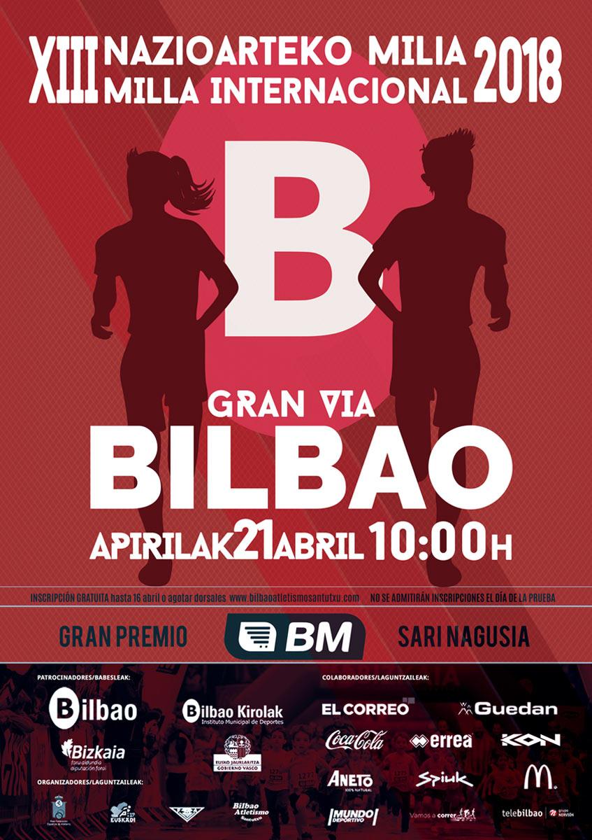 Cartel Milla Int. de Bilbao 2018