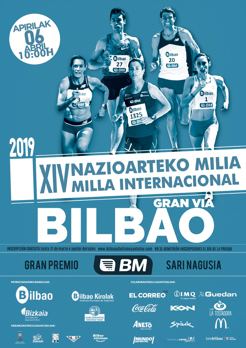 Cartel Milla Int. de Bilbao 2019