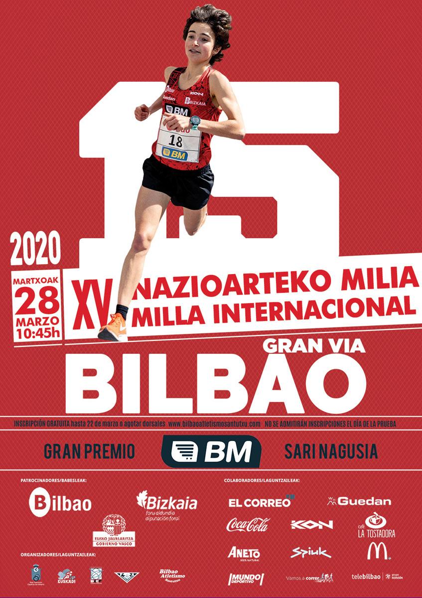 Cartel Milla Int. de Bilbao 2020