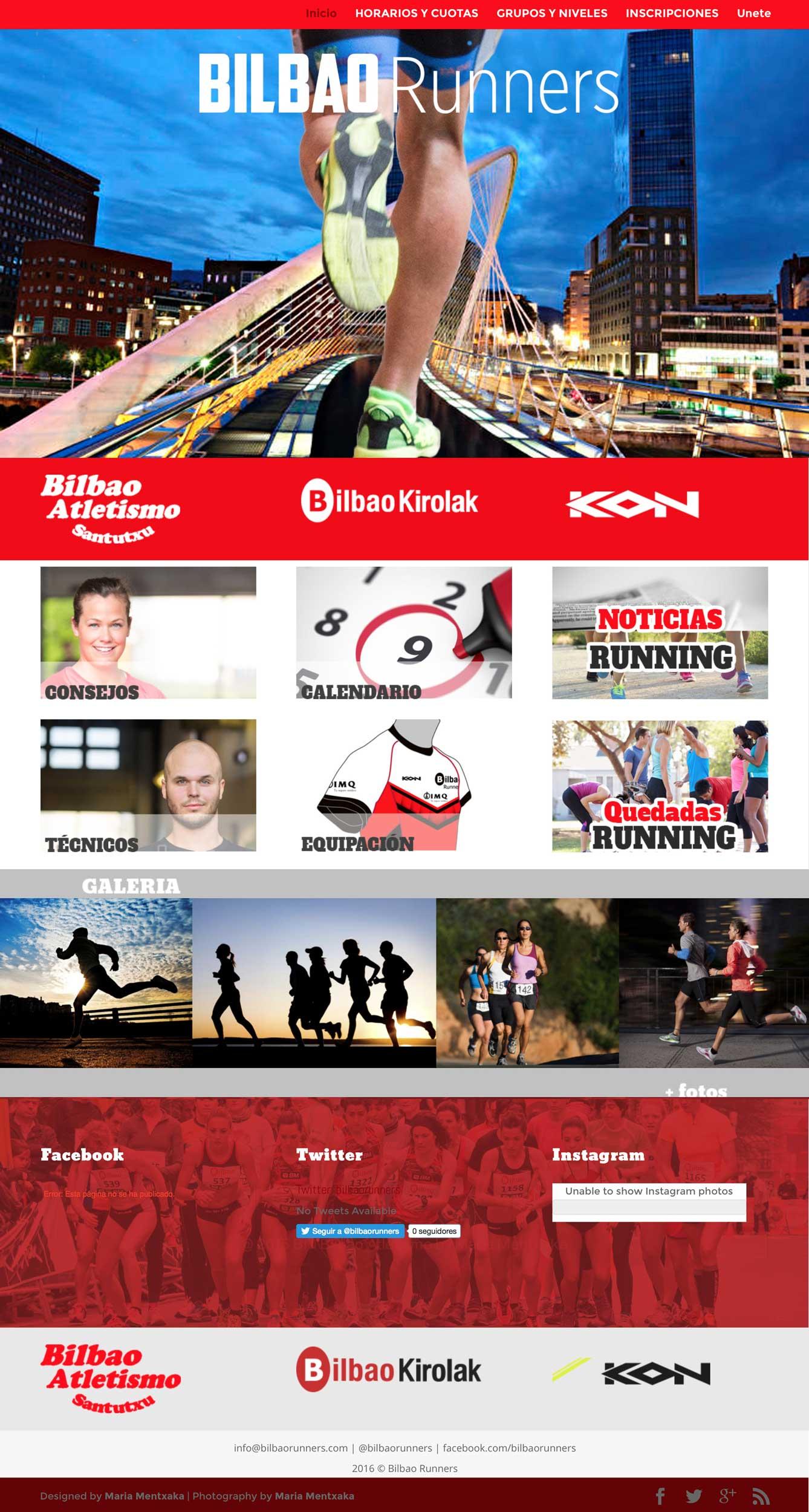 boceto web Bilbao Runners